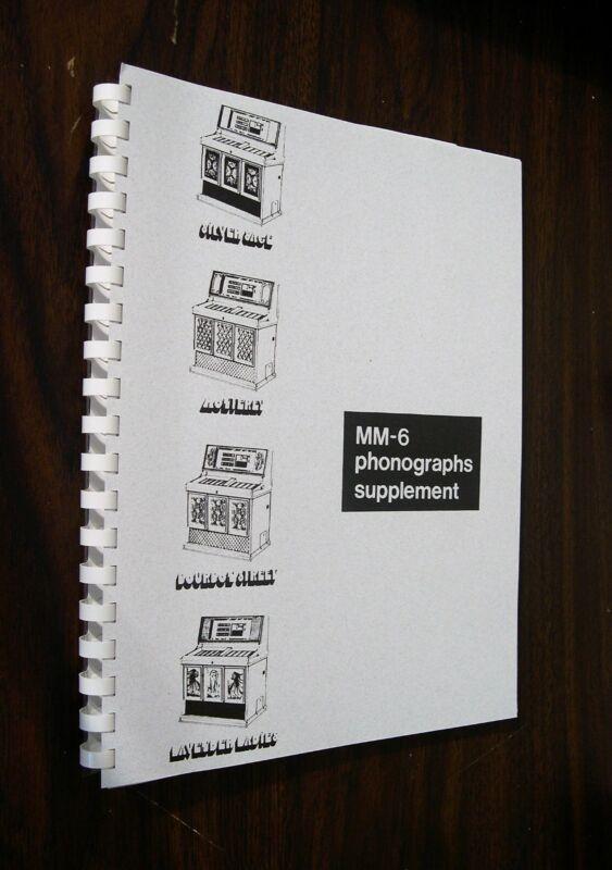 Rowe AMI MM-6 Jukebox Supplement Manual