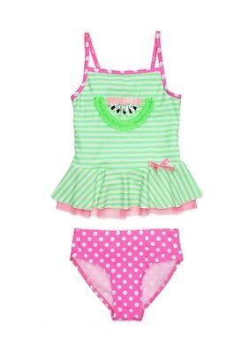 (FLAPDOODLES® Toddler Girls' 3T, 4T Watermelon 2-Piece Tankini Swimsuit NWT)