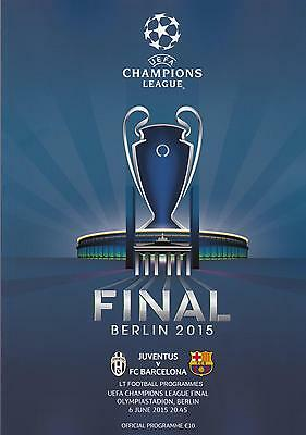 * 2015 UEFA CHAMPIONS LEAGUE FINAL - BARCELONA v JUVENTUS - OFFICIAL PROGRAMME *