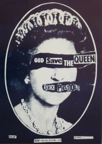 "SEX PISTOLS ""GOD SAVE THE QUEEN"" U.K. COMMERCIAL OUT OF PRINT POSTER - Punk Rock"