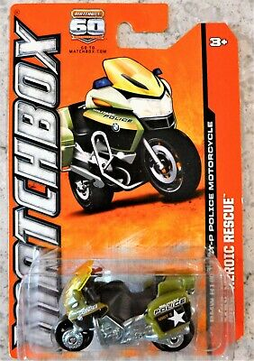 MATCHBOX BMW R1200 RT-P POLICE MOTORCYCLE (2012) MBX HEROIC RESCUE
