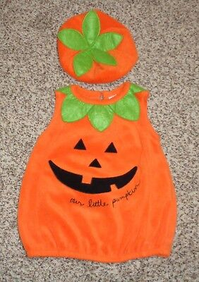 Baby Boys Girls Pumpkin Halloween Costume 2 Piece Size 6-9 Months EUC  - Baby Pumpkin Costume 6 9 Months