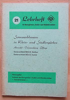 DDR Lehrheft Garten Anbau Sommerblumen Pflege Anzucht Schnittblumen Balkonkästen