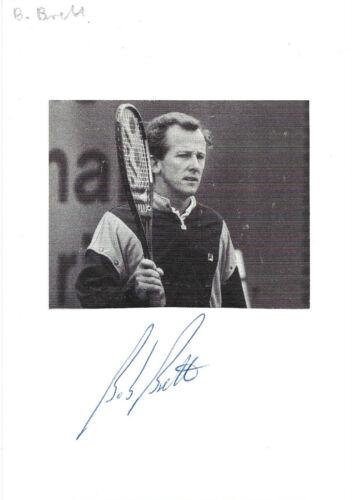 Bob Brett Autogramme signed 10x15 cm Karteikarte mit Magazinbild