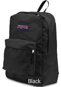 100% Authentic NWT Jansport Superbreak Backpack School Bag Black
