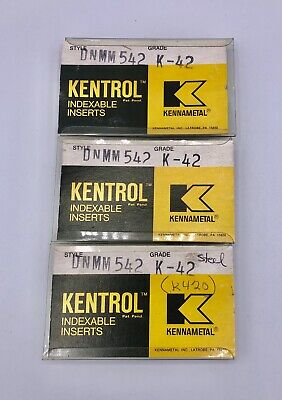 Kentrol Kennametal Carbide Indexable Inserts Dnmm 542 K-42 Set Of 4 Inserts