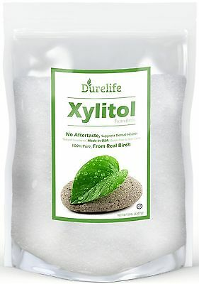 DureLife Birch XYLITOL Sugar Substitute 5 LB (80 OZ) Made from Pure Birch In ...