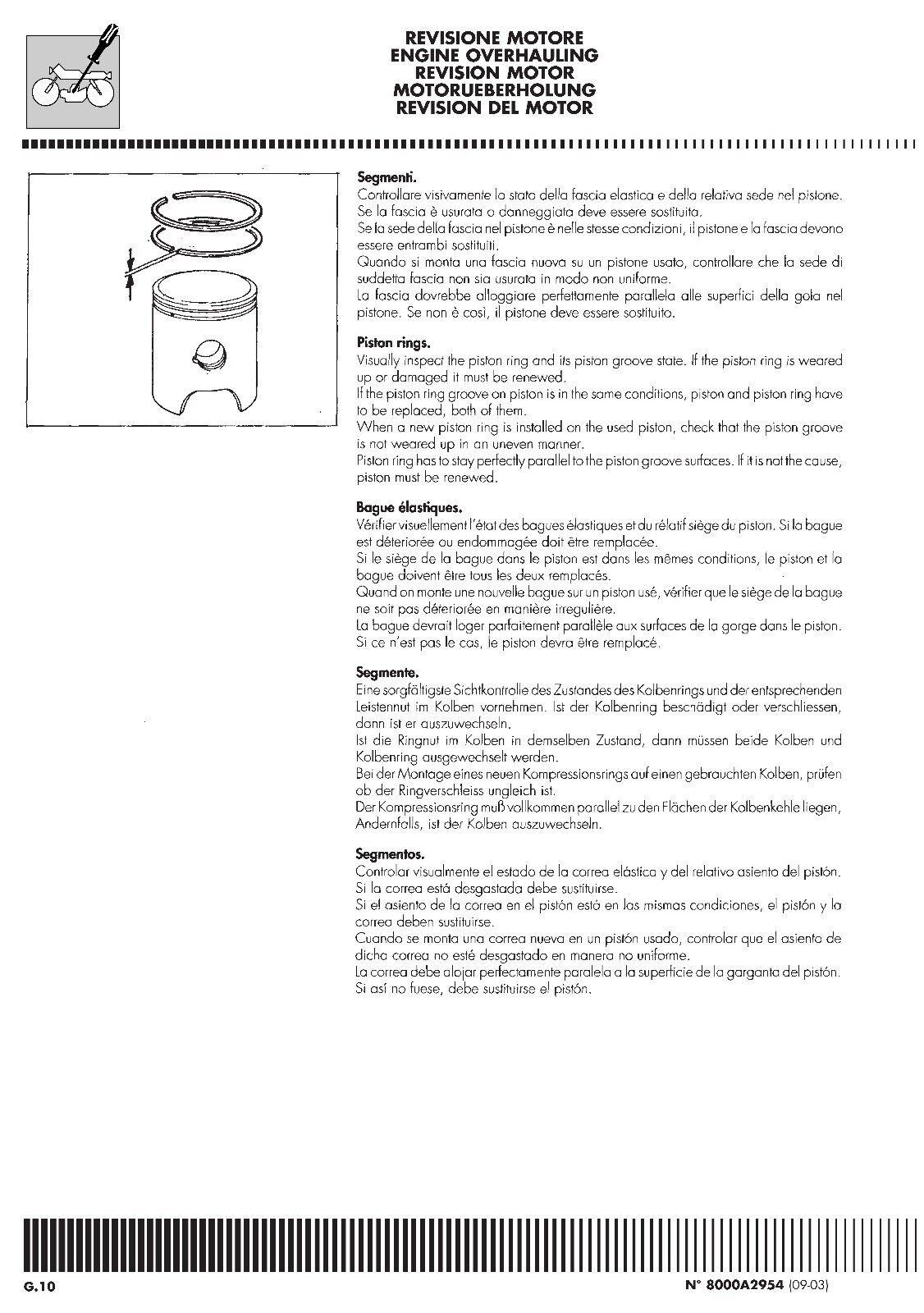 6 of 12 Husqvarna workshop service manual 2004 WR 250 & CR 250