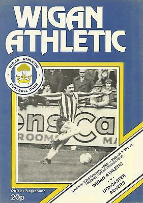 Football Programme - Wigan Athletic v Doncaster Rovers - Div 4 - 1980