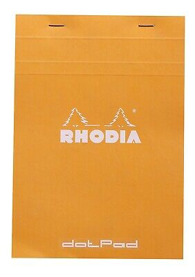 Rhodia Staplebound Notebook 6 X 8 Dot Grid Paper Orange
