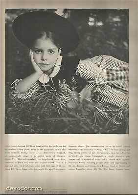 60's Diane Arbus Photographed 2-Page Bill Blass Children's Fashion Editorial