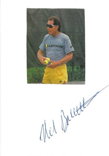 Nick Bolletieri Autogramme signed 10x15 cm Karteikarte mit Magazinbild