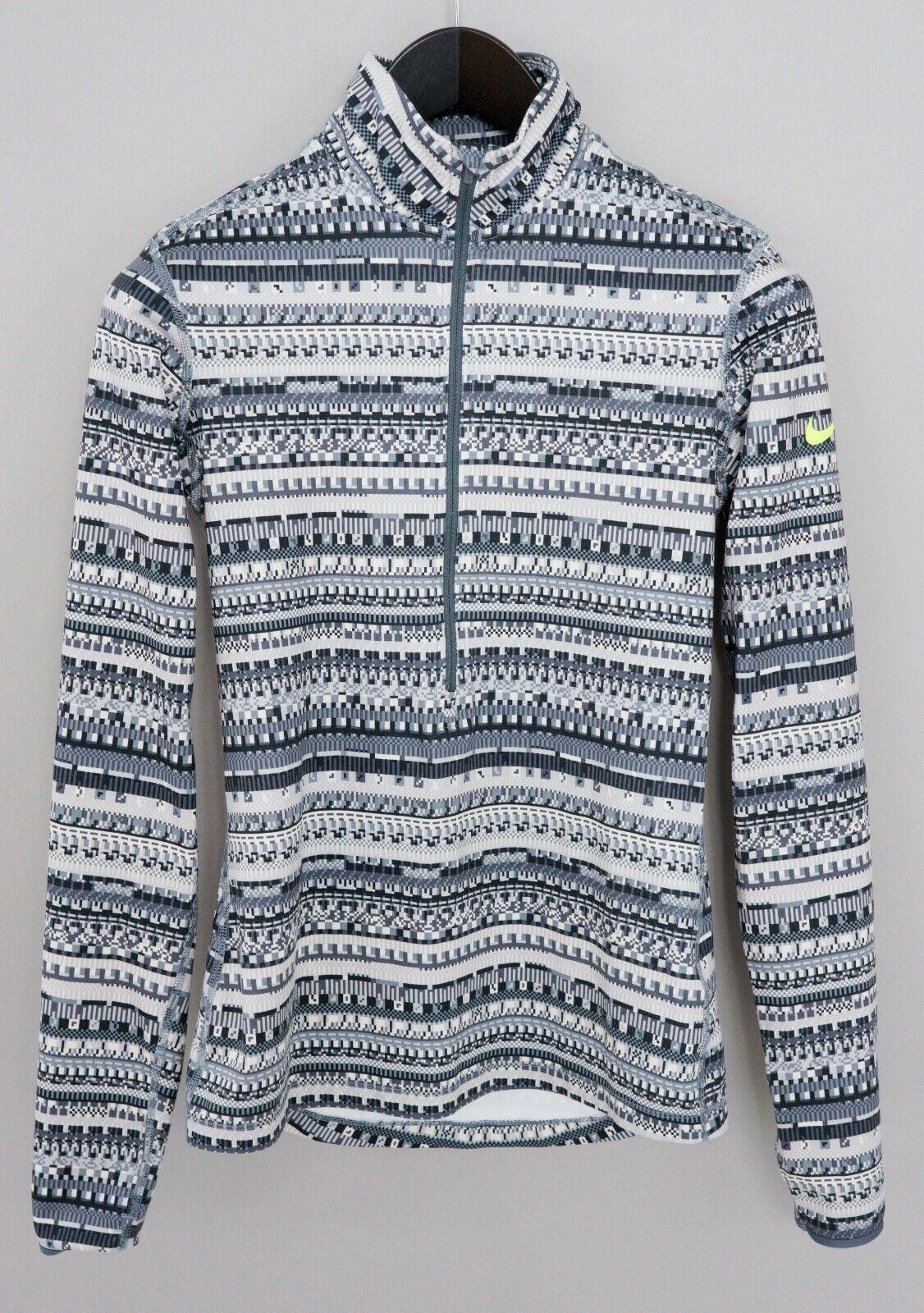 Details about Women Nike Sweatshirt Pro Dri Fit Activewear Stretch Half Zip S XMM680
