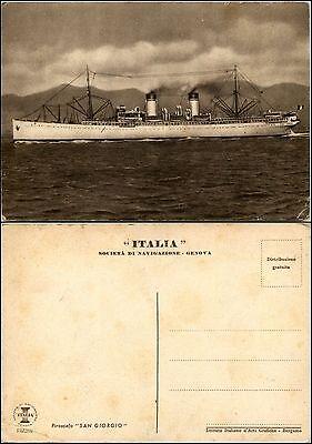 Italia società di navigazione Genova, piroscafo SAN GIORGIO, nuova