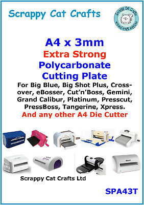 A4 x 3mm Extra Tough Cutting Plate by Scrappy Cat for A4 Die Cutters SPA43T  1 for sale  Shipping to Ireland