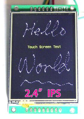 2.4 Serialuarti2cspi Ips Tft 320x240 Touchscreen Display Module For Arduino