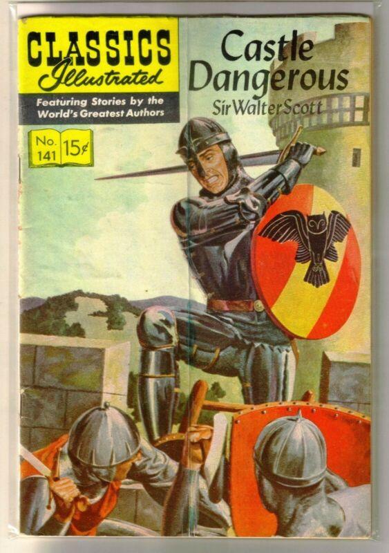 CLASSICS ILLUSTRATED #141 Castle Dangerous - Sir Walter Scott! Comic Book ~ G/VG