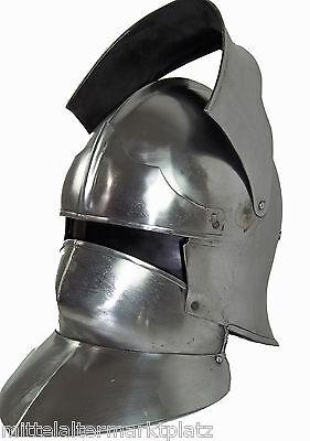 Schaller mit Halsberge Helm Mittelalter Rüstung Ritterhelm LARP MMP338