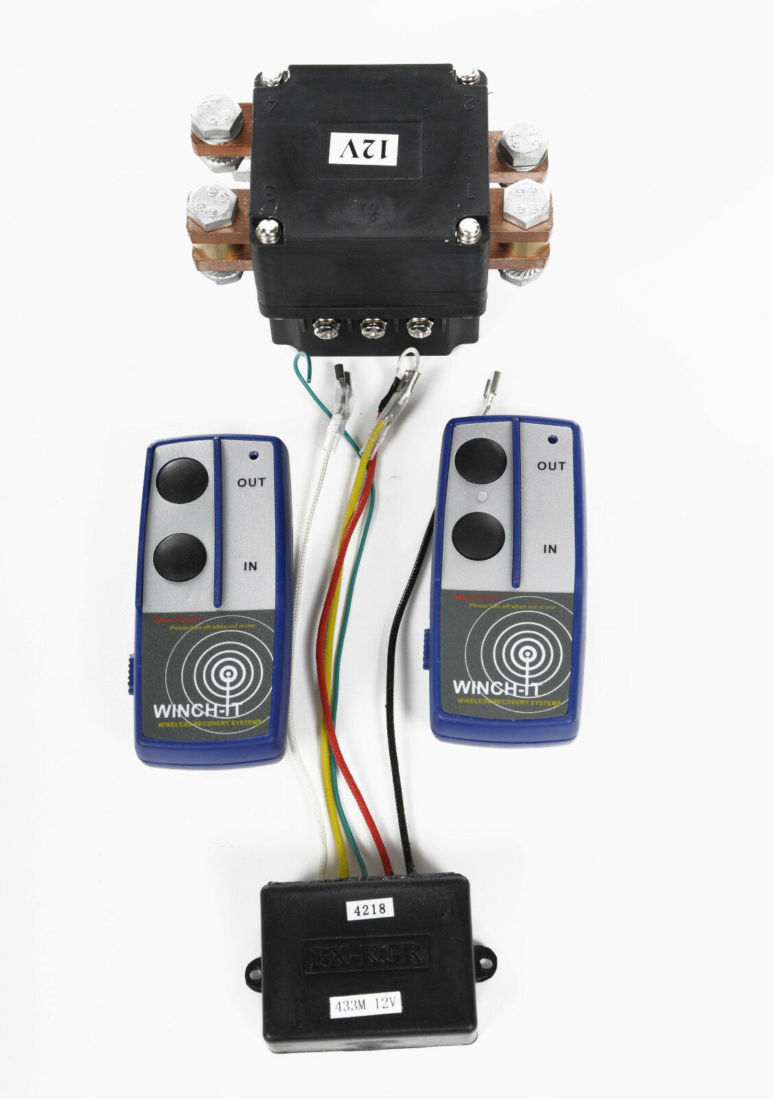 12v Extra Heavy Duty 500amp Winch Solenoid And Twin Wireless Remote Warrior Wiring Diagram