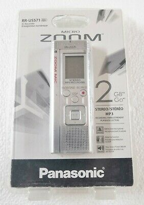 Panasonic RR-US571 Digital Recorder 2GB Stereo/MP3 for sale  Shipping to India