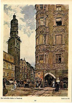 Das katholische Kasino in Innsbruck von Rudolf von Alt Kunstdruck von 1906