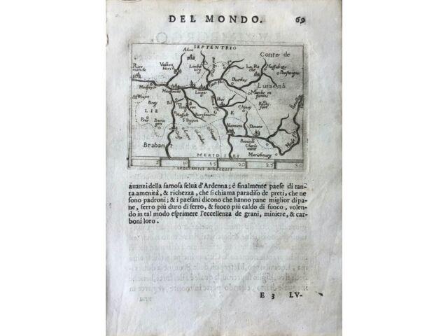 """""""LEODIENSIS DIOCESIS"""", Abraham Ortelius, ca.1667."""