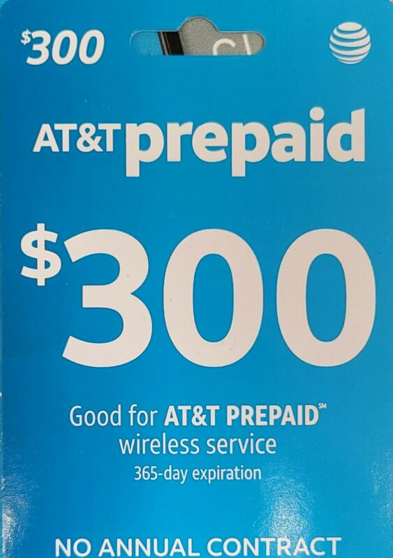 $300 AT&T Prepaid Refill Card [Digital Delivery]