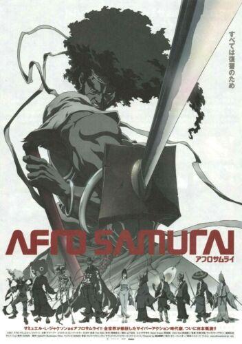 Afro Samurai 2007 Takashi Okazaki Japanese Chirashi Flyer Poster B5