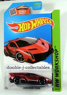 2015 Hot Wheels HW WORKSHOP LAMBORGHINI VENENO Red #189
