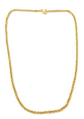 PERFECT SOLID 24K (999.9) FINE GOLD YELLOW GOLD NECKLACE- SEE OTHER GOLD LISTING