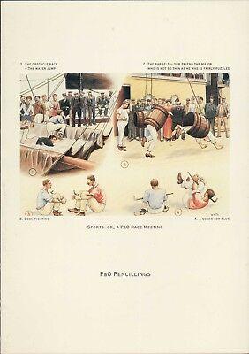 P&O Pencillings. Sports Race Meeting  Luncheon Menu. 1992  HL2.860