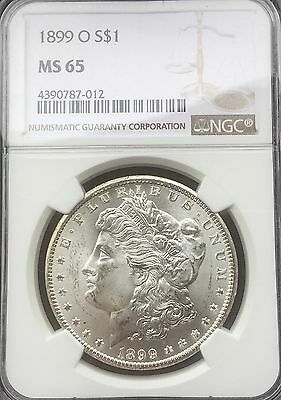 1899  O NEW ORLEANS   MORGAN DOLLAR  PQ FLASHY COIN TONE REVERSE NGC MS65