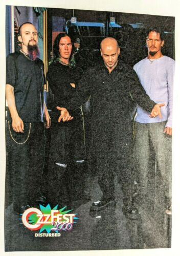 DISTURBED / DAVID DRAIMAN / OZZFEST MAGAZINE FULL PAGE PINUP POSTER CLIPPING