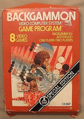 M Original Atari 2600 Cx 2617 Backgammon Video Computer System Game Program