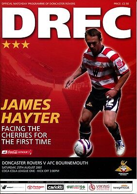 B39 Doncaster Rovers v AFC Bournemouth 25/08/07 League 1