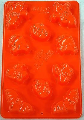 Orange Jello Halloween (Large Jello Jigglers Halloween Happy Jelloween Molds)