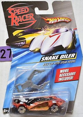 HOT WHEELS SPEED RACER SNAKE OILER RACE CAR WITH SPEAR HOOKS W+ (Snake Oiler Race Car)