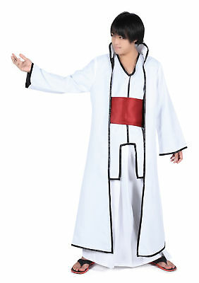 Japanese Anime Bleach Cosplay Costume Aizen Sousuke Arrancar Outfit 2nd Ver Set