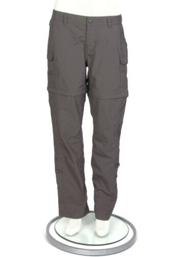 North Face Convertible Hiking Cargo Pants & Shorts Gray Women
