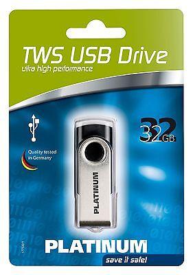 Platinum TWS USB-Stick 32 GB schwarz USB 2.0 177532 ()