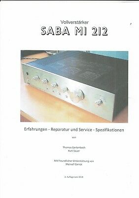 Saba  Ratgeber Reparaturanleitung  Erfahrungen Service für MI 212