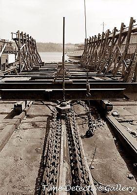 Powered Marine (Steam-Powered Marine Railway, New London, CT - Steampunk Interest Photo)