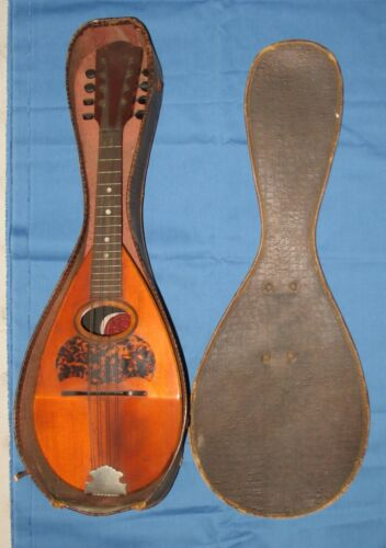 Antique R.P. Seiler Round Bowl Mandolin 6 String W/Case Vintage