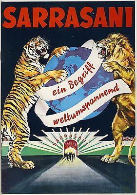 Zirkus CIRCUS SARRASANI Programm um 1975