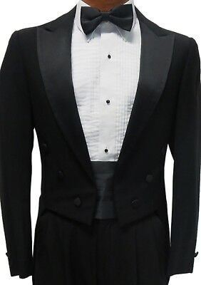 Black Tuxedo Tailcoat Damaged Cheap Mardi Gras Coat Theater Tails Discount -