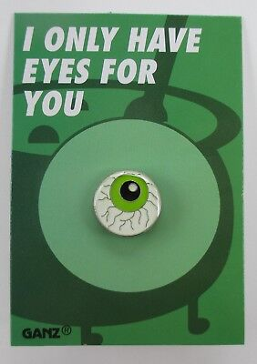 H I only have eyes for you eyeball pin HALLOWEEN PINBACK tack jewelry Ganz