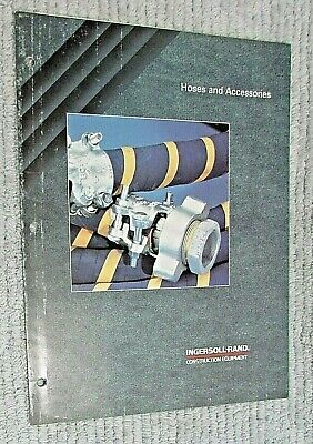 Vintage 1990 Ingersoll Rand Hoses Accessories Triple Fold Color Brochure Free Sh
