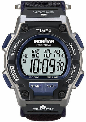 Timex T5K198, Men's Ironman 30-Lap Wrapstrap Watch, Shock, Indiglo, T5K1989J