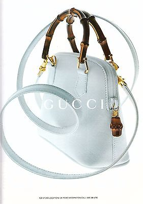 1995 Gucci Bamboo Handle Purse Handbag Vintage Print Ad Advertisement 1990s