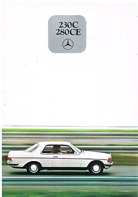 MERCEDES BENZ W123 230C & 280CE COUPE ORIGINAL 1978 FACTORY UK SALES BROCHURE